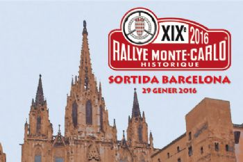 100 coches en la salida barcelonesa del Rallye Monte-Carlo histórico